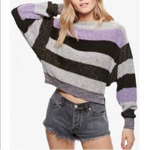 Free people striped sweater medium NWT